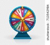roulette 3d fortune wheel... | Shutterstock .eps vector #713542984