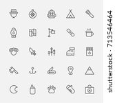 expedition object icons vector... | Shutterstock .eps vector #713546464