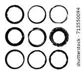 set of grunge circles.vector... | Shutterstock .eps vector #713550094