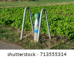 ground water collection site on ... | Shutterstock . vector #713555314
