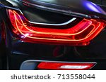 car detail. new led taillight... | Shutterstock . vector #713558044