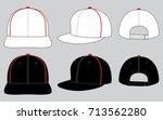 white   black hip hop hats for...   Shutterstock .eps vector #713562280