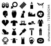 beauty icons set. set of 25... | Shutterstock .eps vector #713565244