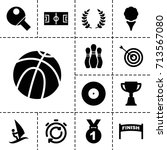 competition icon. set of 13... | Shutterstock .eps vector #713567080