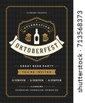 oktoberfest beer festival...   Shutterstock .eps vector #713568373