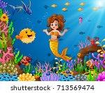 vector illustration of cartoon... | Shutterstock .eps vector #713569474