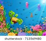 vector illustration of cartoon... | Shutterstock .eps vector #713569480