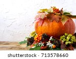 Fall Table Centerpiece With...