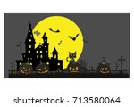vector   halloween theme  ... | Shutterstock .eps vector #713580064