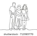 vector  outlines  people sketch | Shutterstock .eps vector #713585770