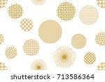 trendy japanese motifs.... | Shutterstock .eps vector #713586364