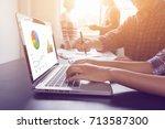 business people meeting design...   Shutterstock . vector #713587300
