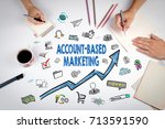 account based marketing concept.... | Shutterstock . vector #713591590