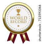 world record badge | Shutterstock .eps vector #713593366