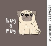 vector illustration with funny... | Shutterstock .eps vector #713596234