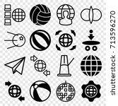 sphere icons set. set of 16... | Shutterstock .eps vector #713596270