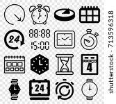 time icons set. set of 16 time... | Shutterstock .eps vector #713596318