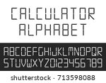 digital font. vector english...   Shutterstock .eps vector #713598088