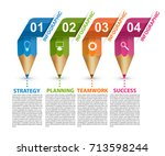 infographics template with... | Shutterstock .eps vector #713598244