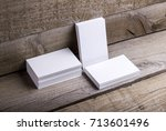 photo of business cards....   Shutterstock . vector #713601496