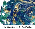 marbled abstract background.... | Shutterstock . vector #713603494