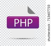 php file | Shutterstock .eps vector #713607733