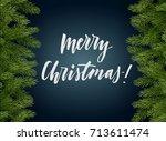 dark blue christmas background... | Shutterstock .eps vector #713611474