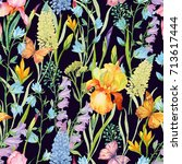 seamless pattern for print on... | Shutterstock . vector #713617444