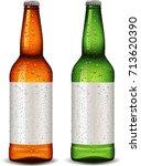 bottle blank package design for ... | Shutterstock .eps vector #713620390