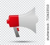 megaphone | Shutterstock .eps vector #713623510