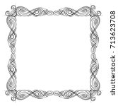 vector frame. calligraphic... | Shutterstock .eps vector #713623708