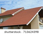 cozy house with balcony  clay... | Shutterstock . vector #713624398