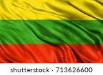 lithuania flag waving | Shutterstock . vector #713626600