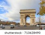 paris  france   december 11 ... | Shutterstock . vector #713628490