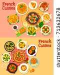 French National Cuisine Dishes...