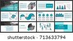 business presentation slides... | Shutterstock .eps vector #713633794