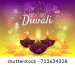 beautiful greeting card for... | Shutterstock .eps vector #713634328