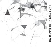 abstract black and white... | Shutterstock .eps vector #713636974
