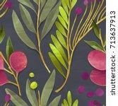 seamless floral pattern....   Shutterstock . vector #713637913