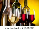 still life with wine bottles... | Shutterstock . vector #71363833