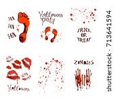 vector set of designs with... | Shutterstock .eps vector #713641594