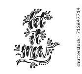 let it snow. handwriting... | Shutterstock .eps vector #713647714