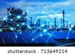 smart factory and... | Shutterstock . vector #713649214