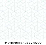 simple seamless geometric grid... | Shutterstock .eps vector #713650390