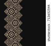 golden frame in oriental style. ... | Shutterstock .eps vector #713652544