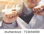 empty wallet  no money  in the... | Shutterstock . vector #713656000