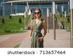 portrait of beautiful yound... | Shutterstock . vector #713657464