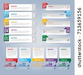 set of infographics design and... | Shutterstock .eps vector #713659156