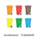 vector isolated recycling... | Shutterstock .eps vector #713660650