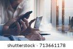 start up businessmen ... | Shutterstock . vector #713661178